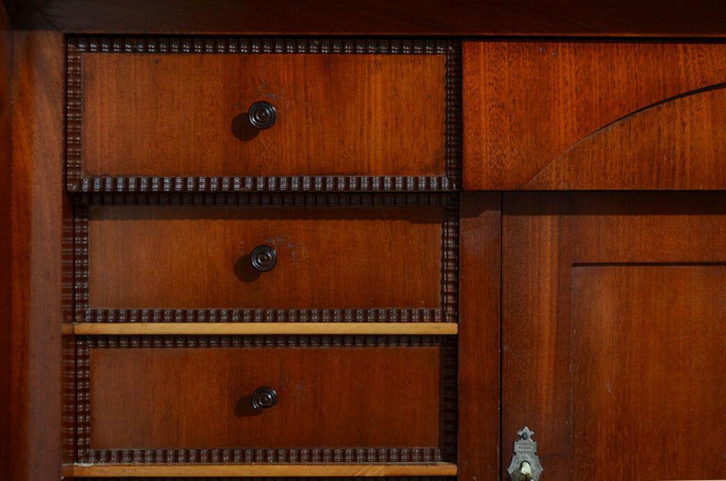 Antiker Louis Philippe Mahagoni Schreibtisch Sekretär von 1860 8