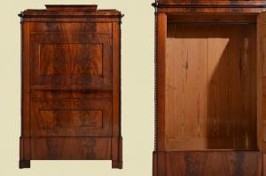 TOP Antik Mahagoni Kleiderschrank Wäscheschrank Blender von 1840