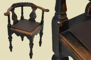 Antiker Gründerzeit Kapitänsstuhl Eckstuhl Schreibtisch Bürostuhl von 1880