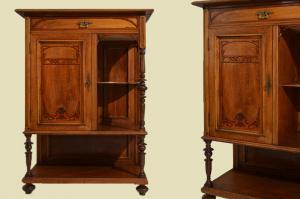 Antiker Jugendstil Kommode Vertiko Kabinettschrank von 1920
