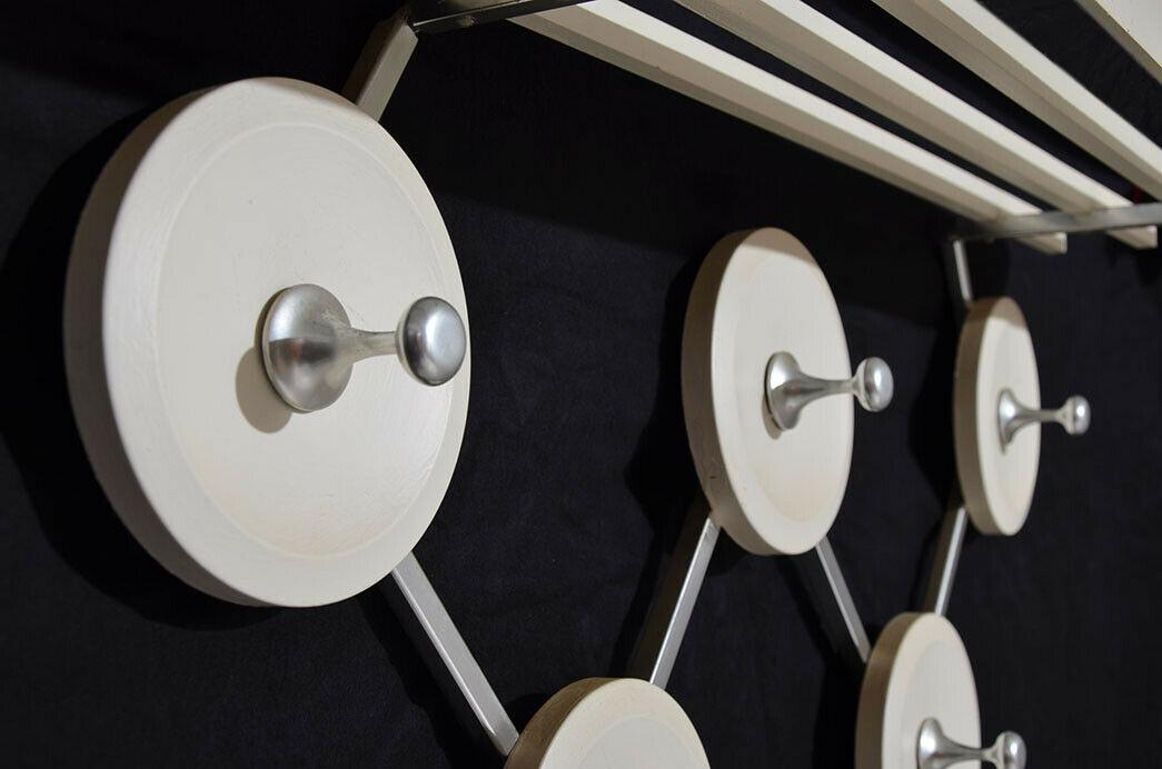 Antik 60er 70er Art Deco Sputnik Space Eames Vintage Teak Design Garderobe 4