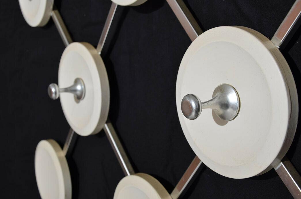 Antik 60er 70er Art Deco Sputnik Space Eames Vintage Teak Design Garderobe 5