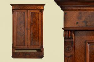 Antiker Gründerzeit Kleiderschrank mit Schublade von 1880