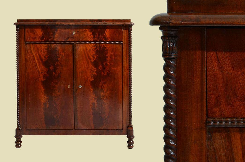 Schöne Antike Mahagoni Halbschrank Kommode von 1840