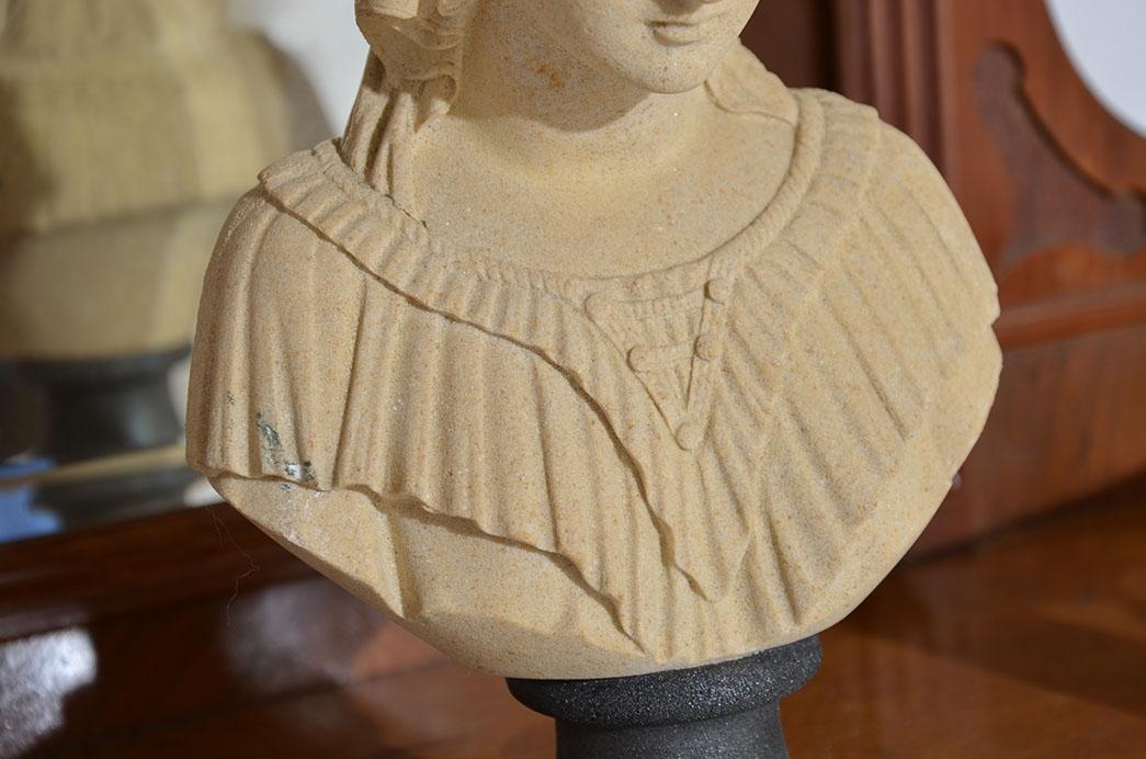 Antike Gründerzeit Historismus Vertiko Aufsatz Büste Figur von 1880 1
