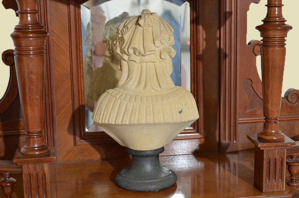 Antike Gründerzeit Historismus Vertiko Aufsatz Büste Figur von 1880 3