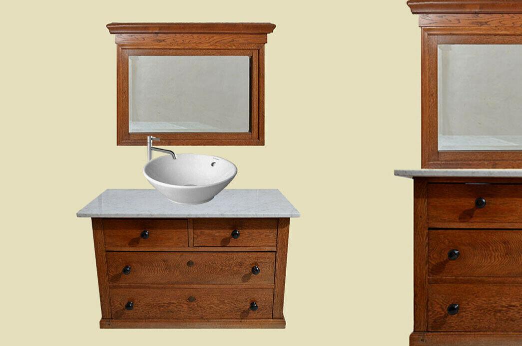 Antike Jugendstil Kommode Waschtisch mit Marmor von 1920 0