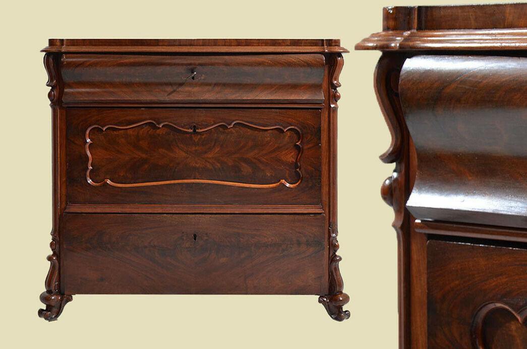 Antike Louis Philippe Mahagoni Herrenkommode Kommode von 1840 0