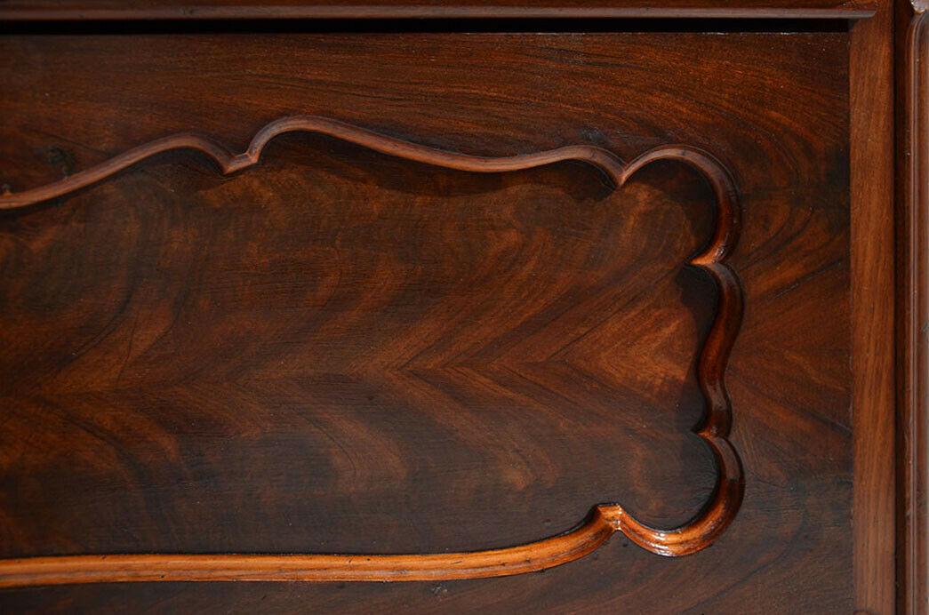 Antike Louis Philippe Mahagoni Herrenkommode Kommode von 1840 11