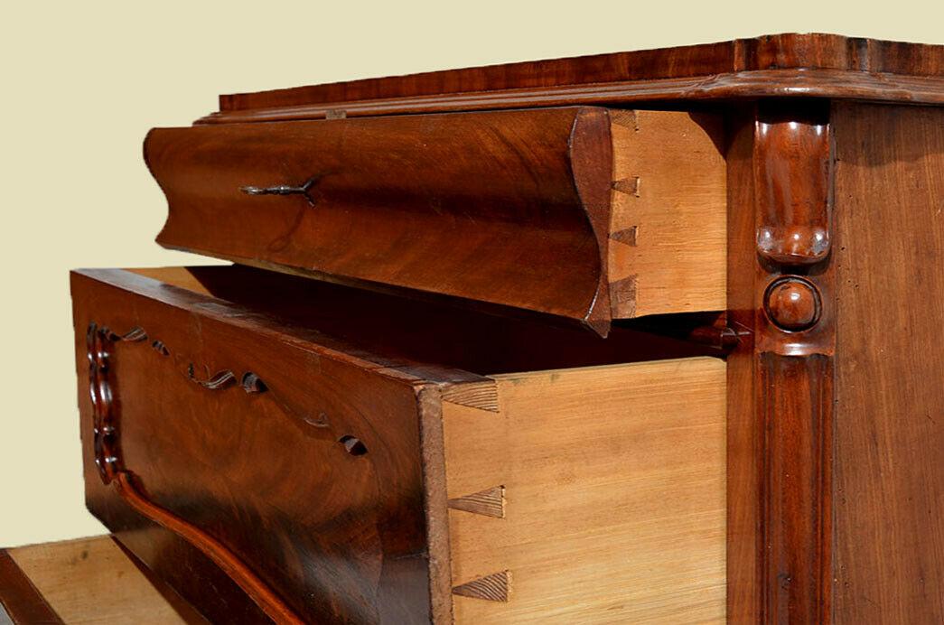 Antike Louis Philippe Mahagoni Herrenkommode Kommode von 1840 5