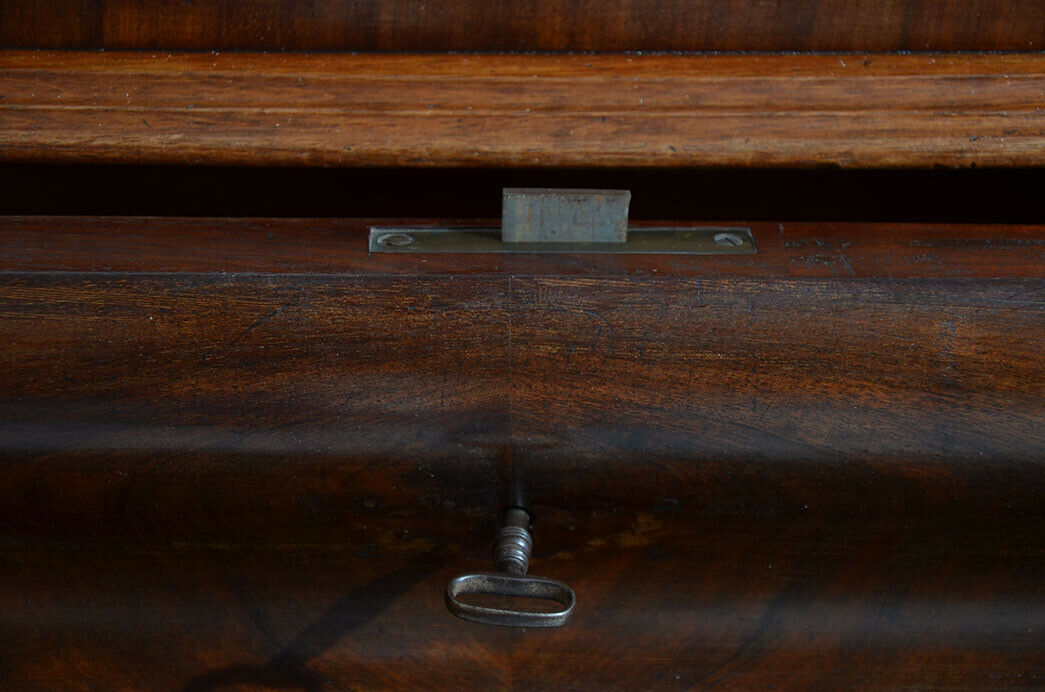 Antike Louis Philippe Mahagoni Herrenkommode Kommode von 1840 6