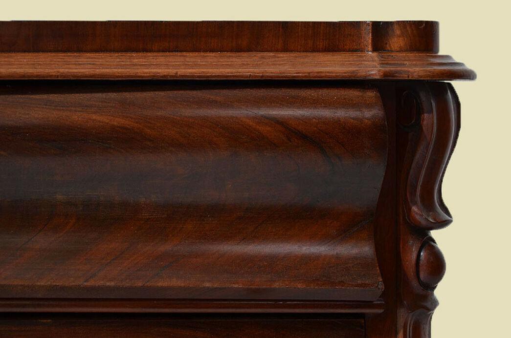 Antike Louis Philippe Mahagoni Herrenkommode Kommode von 1840 9