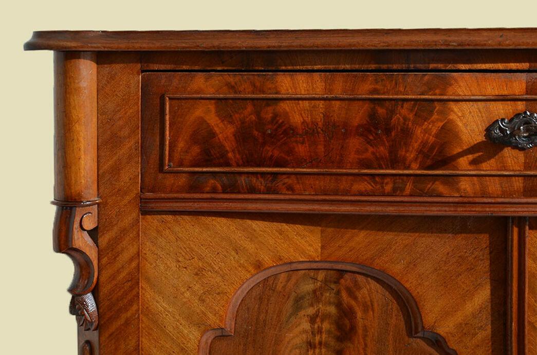Antik Louis Philippe Mahagoni Schrank Kommode Vertiko von 1870 11