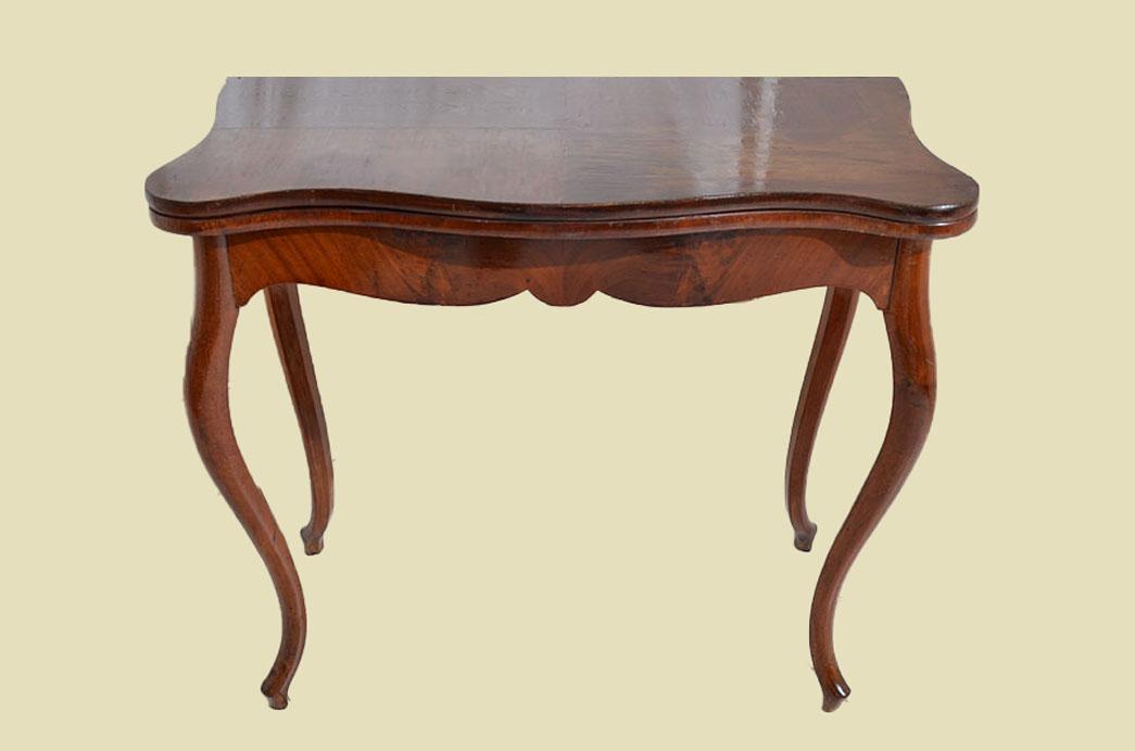 Kleiner Antiker LP Mahagoni Beistelltisch Spieltisch Tisch von 1860 2
