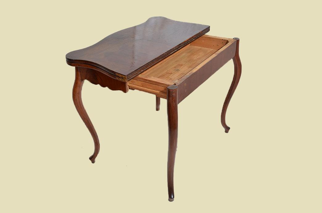 Kleiner Antiker LP Mahagoni Beistelltisch Spieltisch Tisch von 1860 6