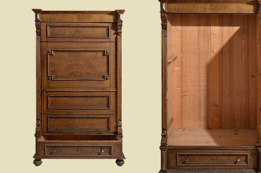 Antiker Kleiderschrank Wäscheschrank Blender Schrank von 1880
