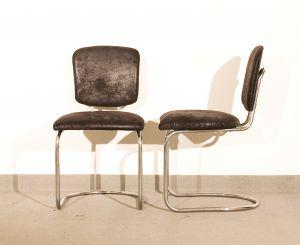 Paar Stühle Original Freischwinger Bauhaus Thonet ST 17 0