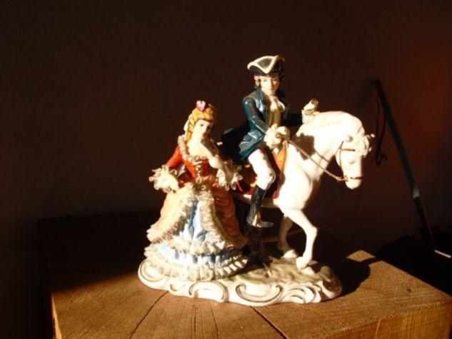 Figurengruppe Reiter mit Dame
