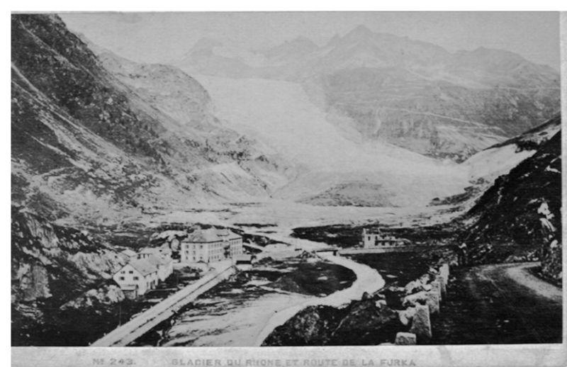 Glacier du Rhone et Route de la Furka