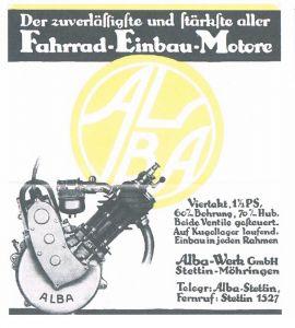 Funktionsmodell eines echten Alba Fahrrad-Einbau-Motors