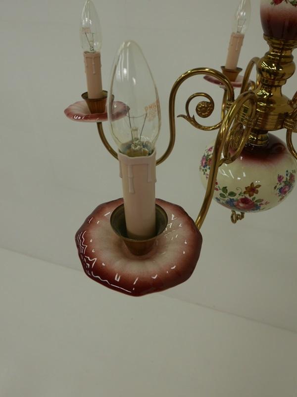 3638-Porzellanluster-Luster-Porzellan-Lüster-Leuchte-Deckenleuchte-Kronleuchter 2