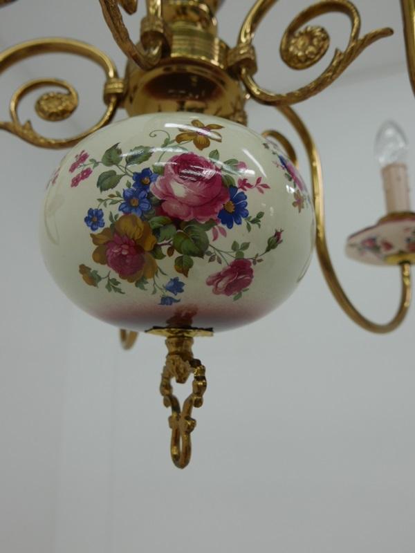 3638-Porzellanluster-Luster-Porzellan-Lüster-Leuchte-Deckenleuchte-Kronleuchter 4
