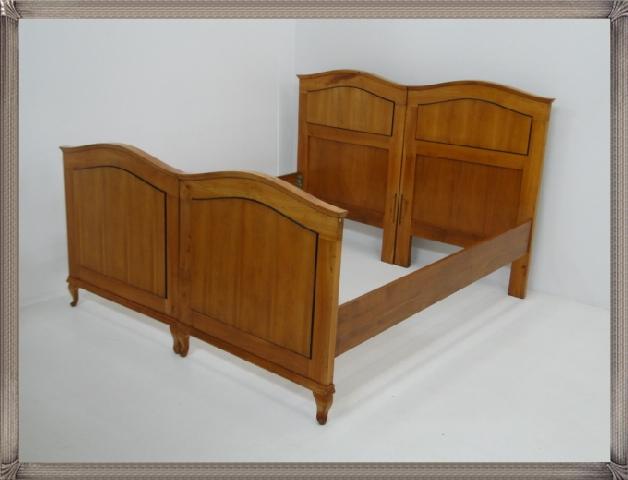 2661-Doppelbett-Art Deco-Jugendstil-Ehebett-Bett-Art Deco Bett-Jugendstil Doppel 1