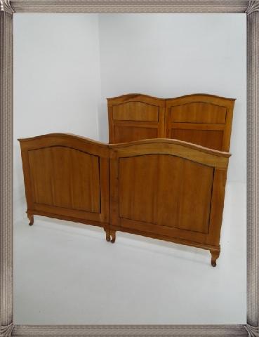 2661-Doppelbett-Art Deco-Jugendstil-Ehebett-Bett-Art Deco Bett-Jugendstil Doppel 2