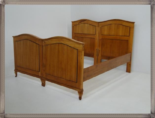 2661-Doppelbett-Art Deco-Jugendstil-Ehebett-Bett-Art Deco Bett-Jugendstil Doppel 3