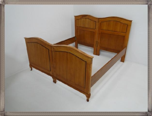 2661-Doppelbett-Art Deco-Jugendstil-Ehebett-Bett-Art Deco Bett-Jugendstil Doppel 4