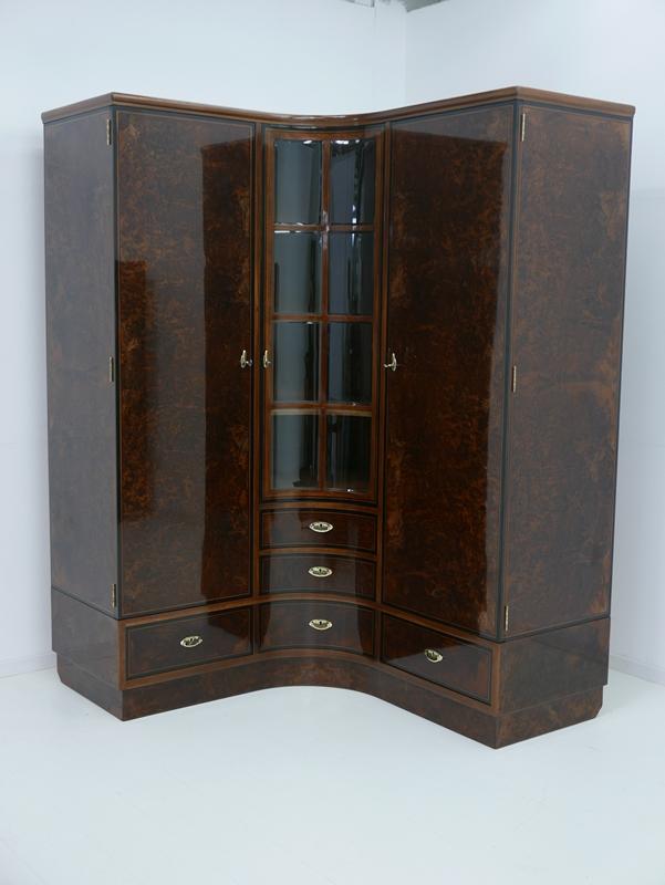 4703D-Art Deco Kasten-Schrank-Art Deco-Kleiderschrank-Kleiderkasten-Art Deco Sch 0