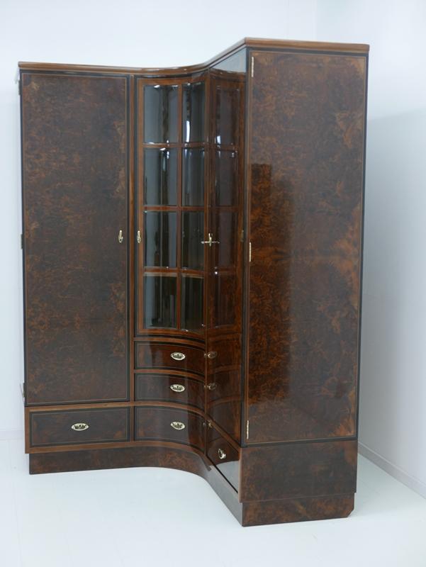 4703D-Art Deco Kasten-Schrank-Art Deco-Kleiderschrank-Kleiderkasten-Art Deco Sch 1