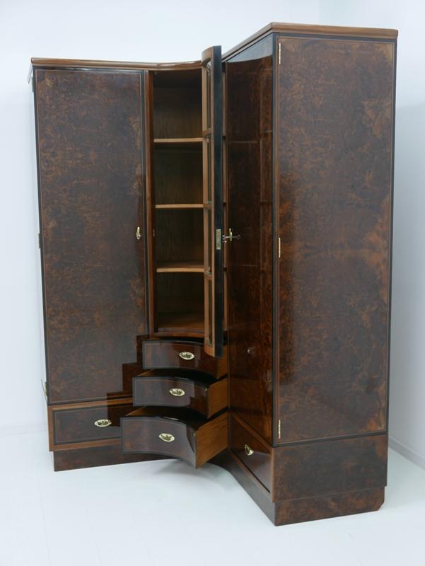 4703D-Art Deco Kasten-Schrank-Art Deco-Kleiderschrank-Kleiderkasten-Art Deco Sch 10