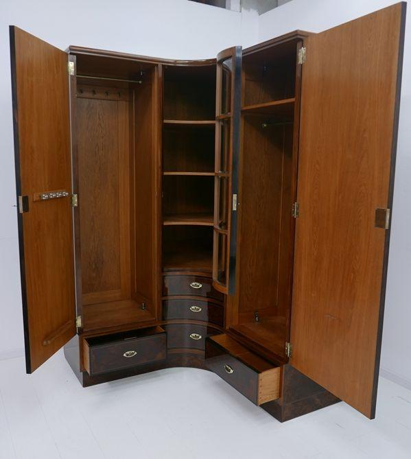 4703D-Art Deco Kasten-Schrank-Art Deco-Kleiderschrank-Kleiderkasten-Art Deco Sch 3