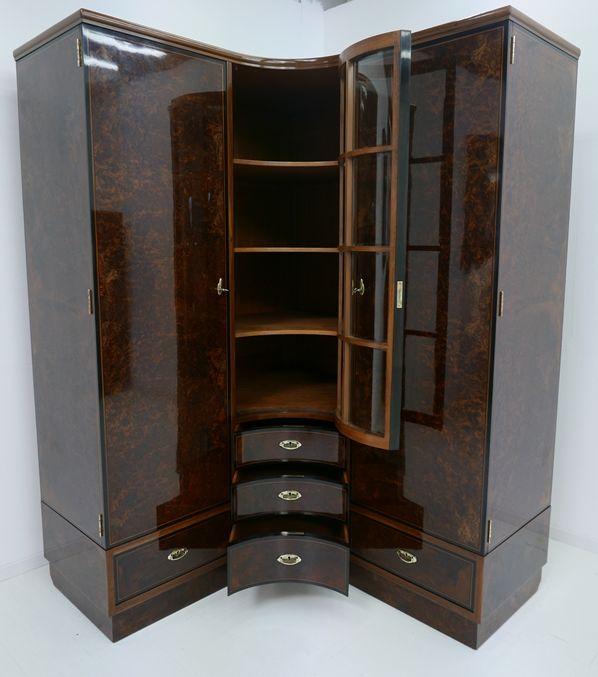 4703D-Art Deco Kasten-Schrank-Art Deco-Kleiderschrank-Kleiderkasten-Art Deco Sch 5
