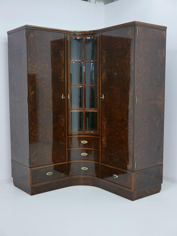 4703D-Art Deco Kasten-Schrank-Art Deco-Kleiderschrank-Kleiderkasten-Art Deco Sch 9