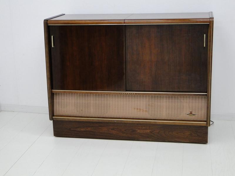 4906-Phonoschrank-Phonokasten-Radio-Sterio Exquisit-Plattenspieler-TV-Kasten-TV- 1