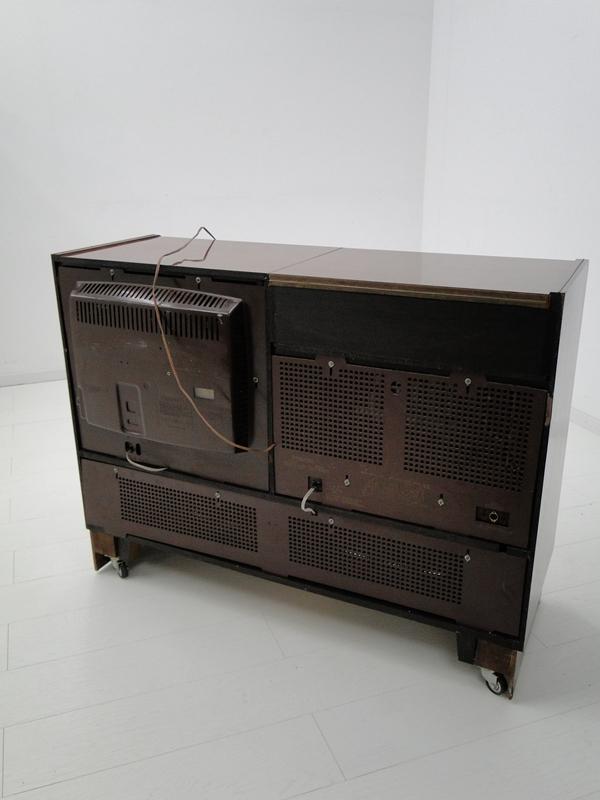 4906-Phonoschrank-Phonokasten-Radio-Sterio Exquisit-Plattenspieler-TV-Kasten-TV- 10