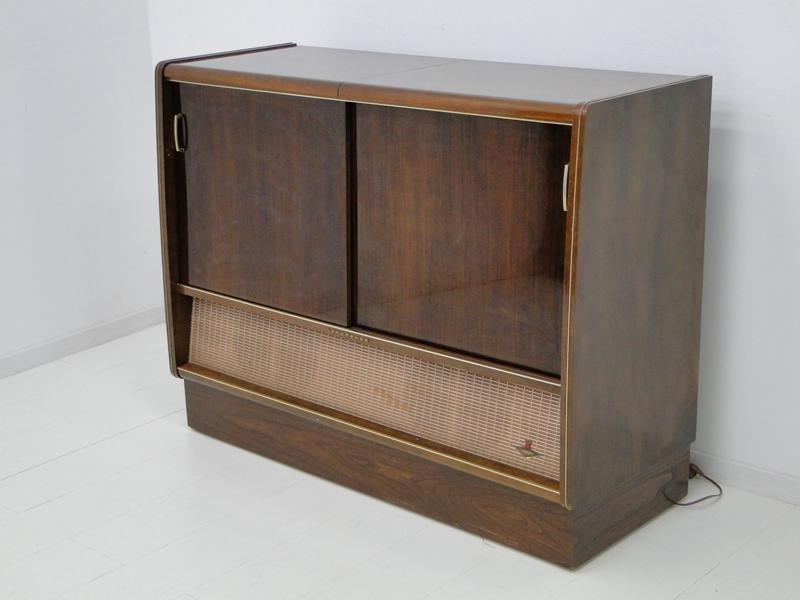 4906-Phonoschrank-Phonokasten-Radio-Sterio Exquisit-Plattenspieler-TV-Kasten-TV- 2