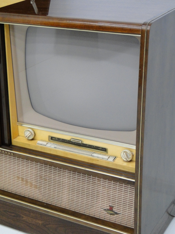4906-Phonoschrank-Phonokasten-Radio-Sterio Exquisit-Plattenspieler-TV-Kasten-TV- 4