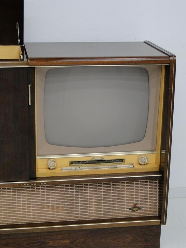 4906-Phonoschrank-Phonokasten-Radio-Sterio Exquisit-Plattenspieler-TV-Kasten-TV- 5