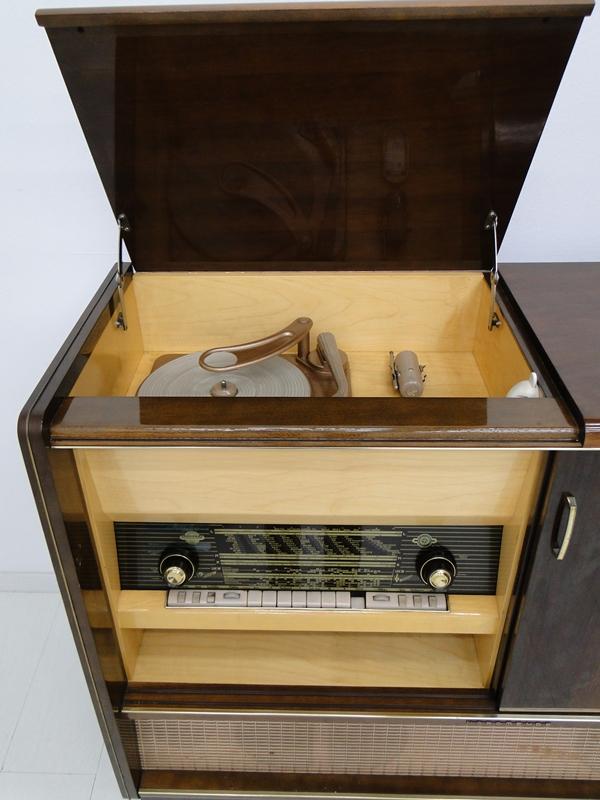 4906-Phonoschrank-Phonokasten-Radio-Sterio Exquisit-Plattenspieler-TV-Kasten-TV- 6