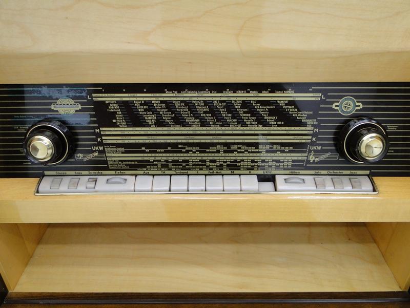 4906-Phonoschrank-Phonokasten-Radio-Sterio Exquisit-Plattenspieler-TV-Kasten-TV- 7