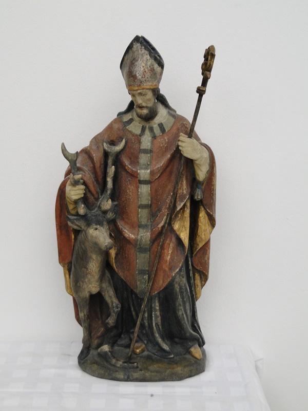 5253D-Holzfigur-hangeschnitze Figur-Heiliger Hubertus-Heiligenfigur-geschnitzt- 0