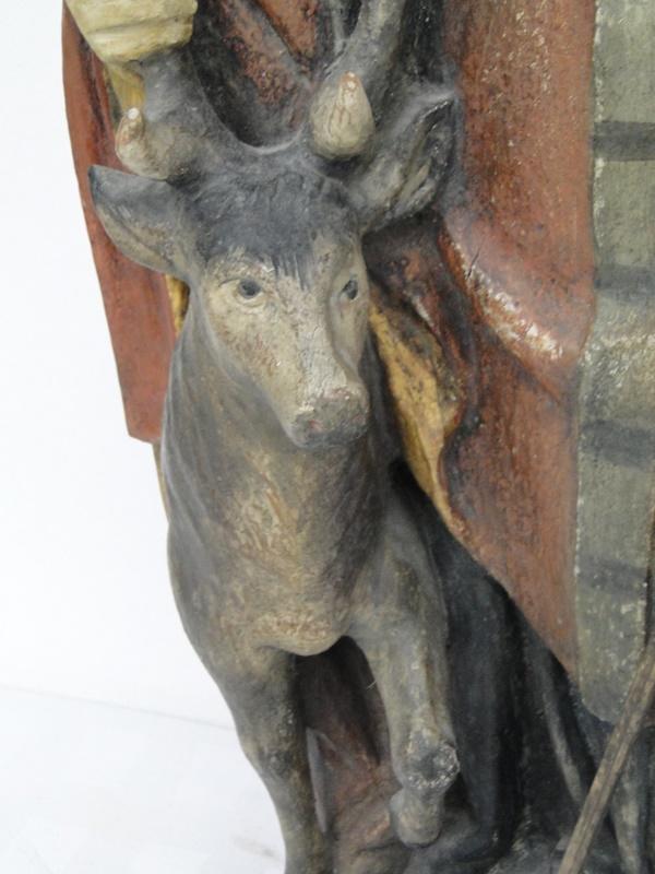 5253D-Holzfigur-hangeschnitze Figur-Heiliger Hubertus-Heiligenfigur-geschnitzt- 1