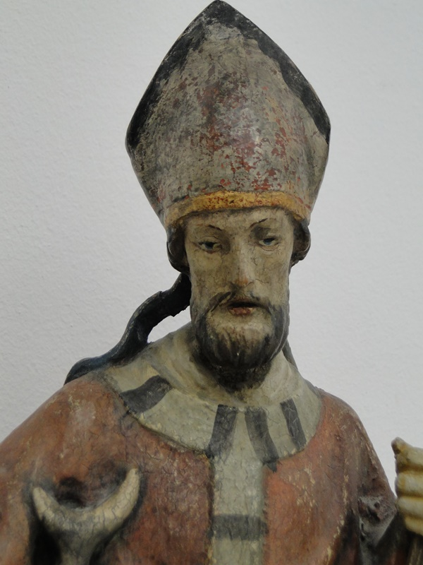 5253D-Holzfigur-hangeschnitze Figur-Heiliger Hubertus-Heiligenfigur-geschnitzt- 2