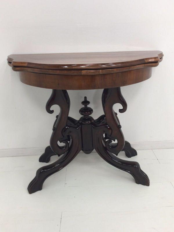 Biedermeier Konsolentisch-aufklappbar-Spieltisch-Tisch-BIedermeier Tisch 1