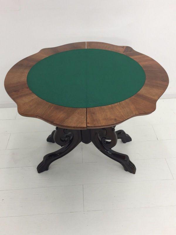 Biedermeier Konsolentisch-aufklappbar-Spieltisch-Tisch-BIedermeier Tisch 6