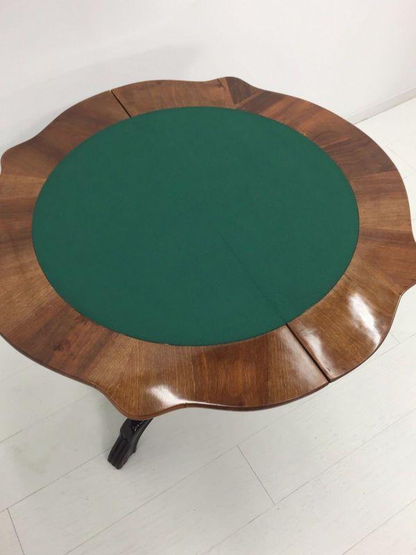 Biedermeier Konsolentisch-aufklappbar-Spieltisch-Tisch-BIedermeier Tisch 7