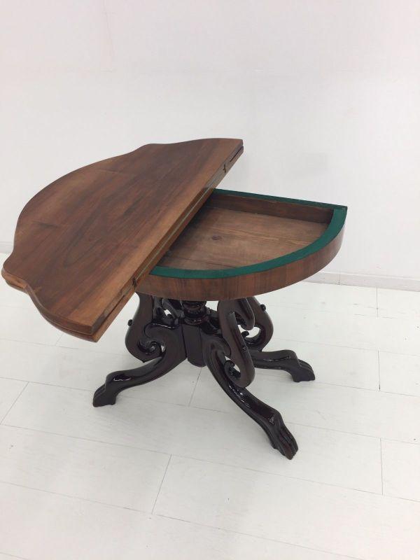 Biedermeier Konsolentisch-aufklappbar-Spieltisch-Tisch-BIedermeier Tisch 9
